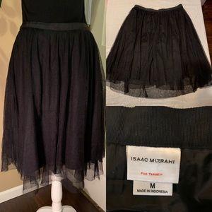 Issac Mizrahi black tulle skirt size M